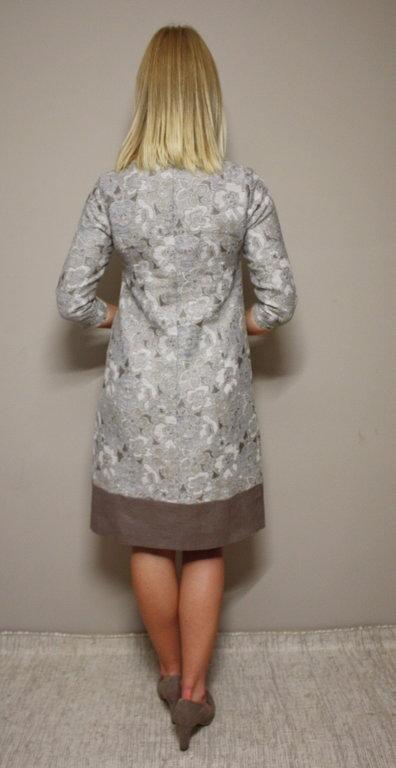 Lina/kokvilnas kleita pasteļu