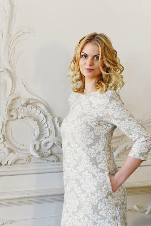 Lina žakarda kleita Damaska