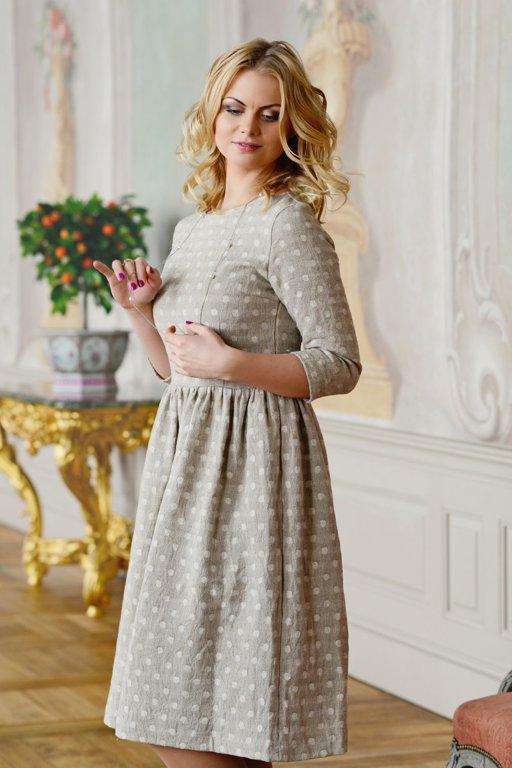 Lina žakarda kleita